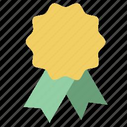 awards, badge, gold, medal, reward, ribbon, win icon