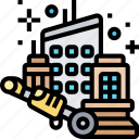 building, cleaning, construction, demolition, maintenance icon
