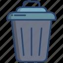trash, bin