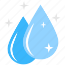 cleaning, sparkling droplets, spotless, spotless house, water icon