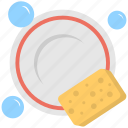 cleaning dishes, cleaning sponge, dish washing, dishwasher, soap water icon