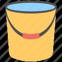 cleaning bucket, cleaning floor, washing floor, water bucket, wiping floor icon