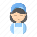 cleaning, cleaning lady, cleanup, maid, profession, woman icon