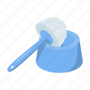 cleaning, cleanup, equipment, toilet brush, tool icon