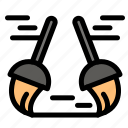 broom, sweep, clean, cleaning icon