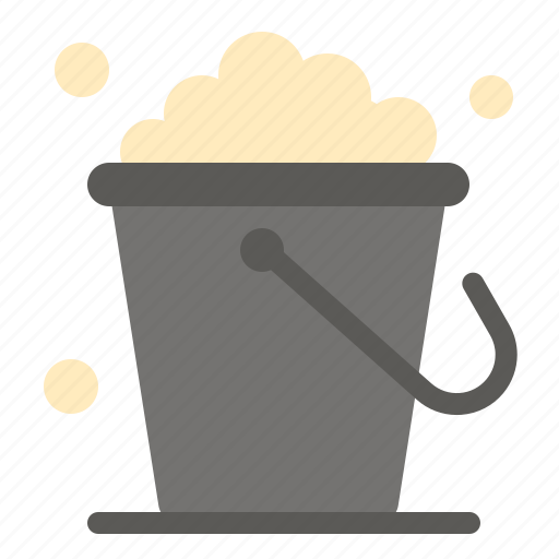bucket, cleaning, floor, home icon