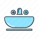 bathroom, bathroom tap, vanity icon