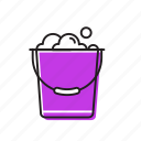 bucket, clothes bucket, soap bucket icon