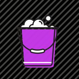 bucket, clothes bucket, soap bucket icon