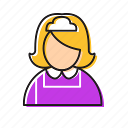 cleaner, girl cleaner icon