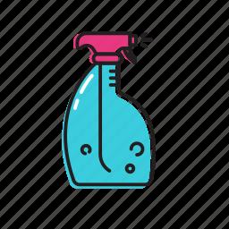 cleaner bottle, dishwasher, multipurpose cleaner icon