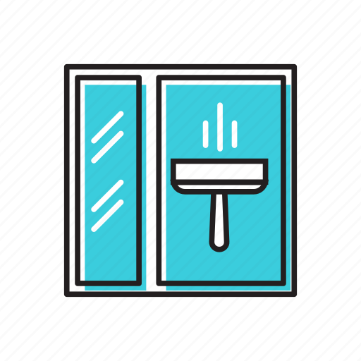 shower, shower cleaner icon