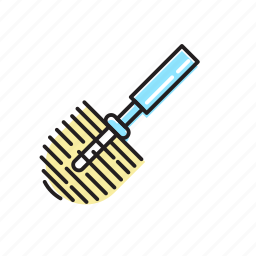 brush, toiler brush, toilet cleaner icon