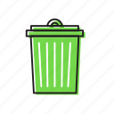cleaning bin, dust bin, trash bin icon