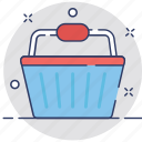 basket, buy, grocery, laundry basket, shopping icon