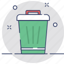 dustbin, garbage, litter bin, recycle bin, trash icon