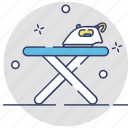 appliance, furniture, iron, iron stand, ironing board icon