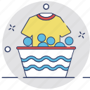 bucket, clothes, laundry, shirt, washing icon