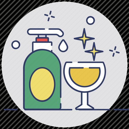 cleaning, dishwash, glass, soap, washing icon