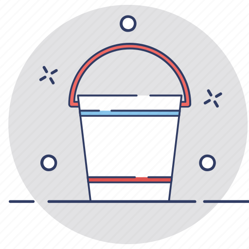 bucket, cleaning, household, pail, water bucket icon