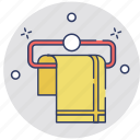 bathroom, fabric, hanger, shower, towel icon