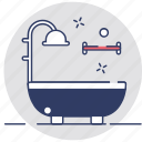 bath, bathroom, bathtub, jacuzzi, shower icon