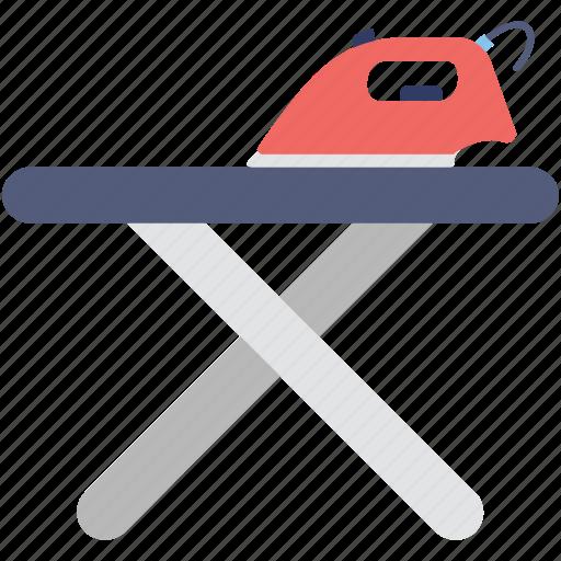 appliance, furniture, iron, iron stand, ironing board icon