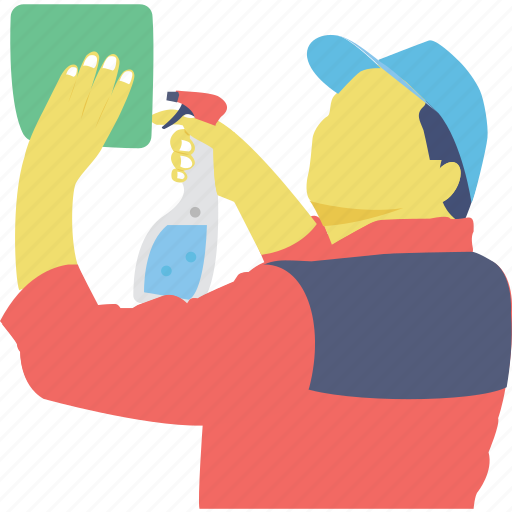 cleaner, housekeeper, janitor, profession, sweeper icon
