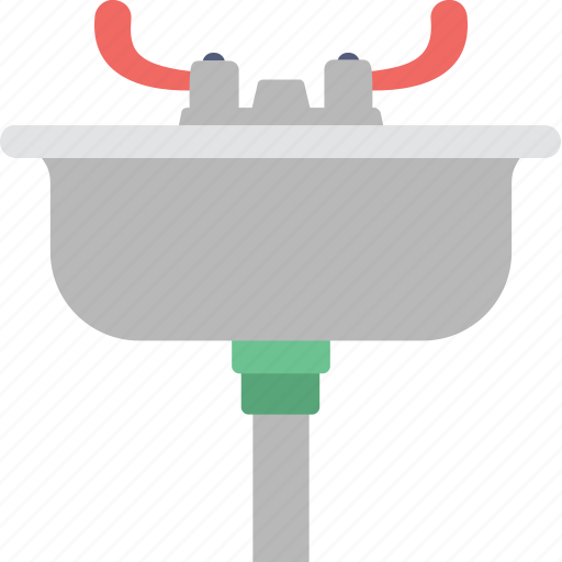 basin, bathroom, sink, wash basin, washbowl icon