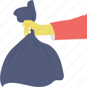 bag, garbage, rubbish, trash, waste icon
