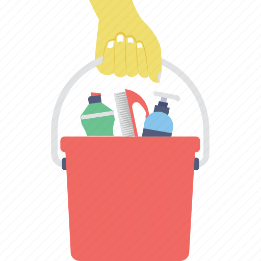 bucket, cleaning, housekeeping, janitor, pail icon