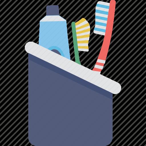 bathroom, brush, hygiene, toothbrush holder, toothpaste icon
