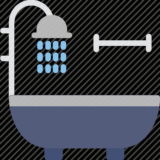 bath, bathroom, bathtub, jacuzzi, shower icon