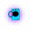 clean, comics, equipment, laundry, machine, wash, washer icon