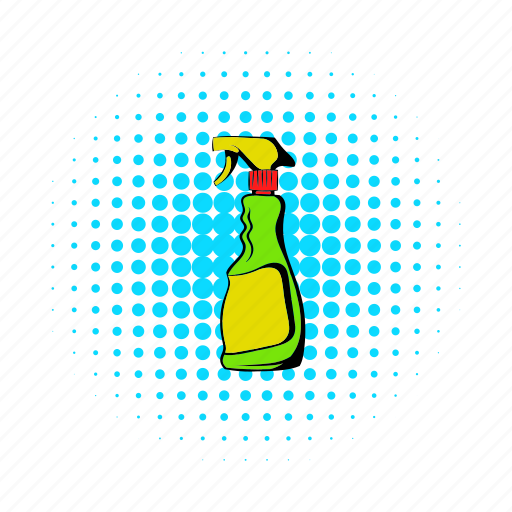 bottle, comics, plant, plastic, spray, sprayer, water icon