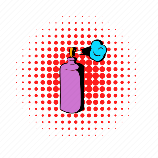 aerosol, air, comics, deodorant, freshener, spray, sprayer icon