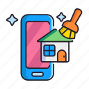airbnb, cleaning, housekeeping icon