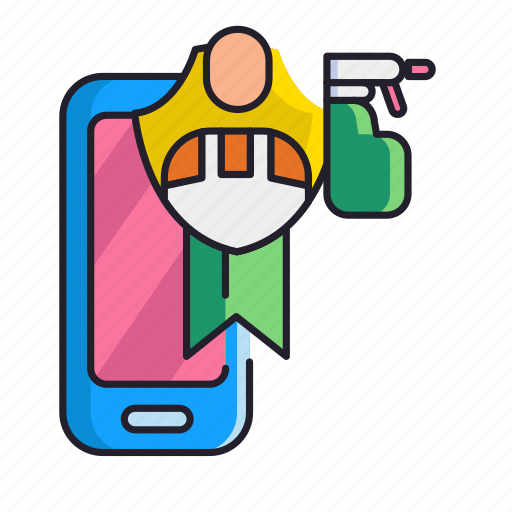 book, cleaner, mobile icon