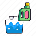 cleaning, detergent, product icon