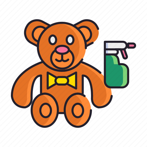 bear, cleaning, doll, teddy, toy icon