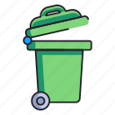 bin, disposal, garbage icon