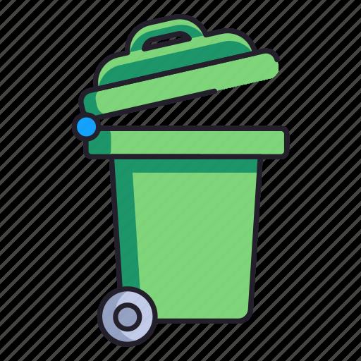 bin, disposal, garbage icon