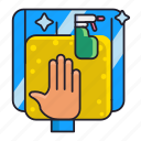 cleaning, glass, window icon