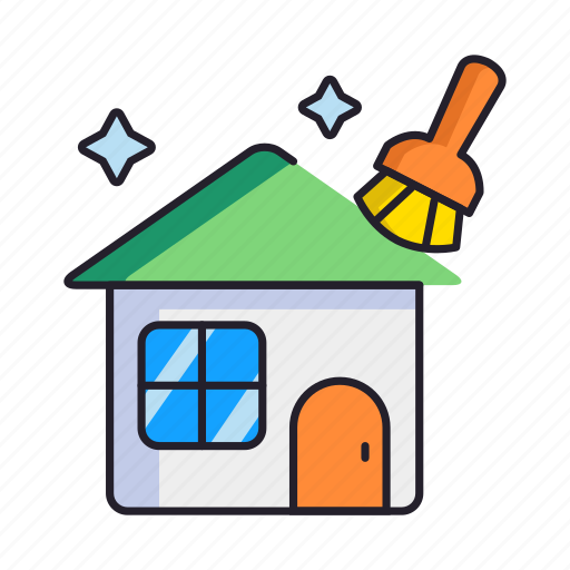 cleaning, home, spring icon