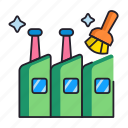 cleaning, factory, industrial icon