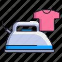 clothes, iron, ironing icon