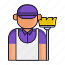 cleaning, janitor, mop icon