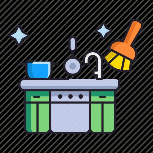 cleaning, hygiene, kitchen icon