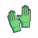 gloves, latex, rubber icon