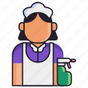 housekeeper, maid, service icon